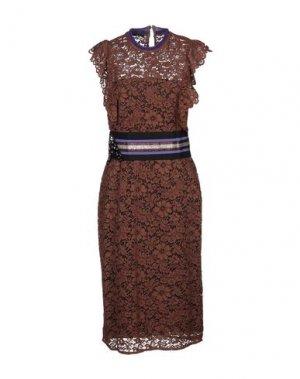 Платье длиной 3/4 HANITA. Цвет: коричневый