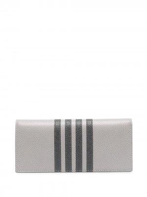 Складной бумажник с полосками 4-Bar Thom Browne. Цвет: серый