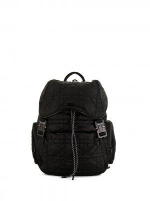 Стеганый рюкзак pre-owned из канваса Christian Dior. Цвет: черный