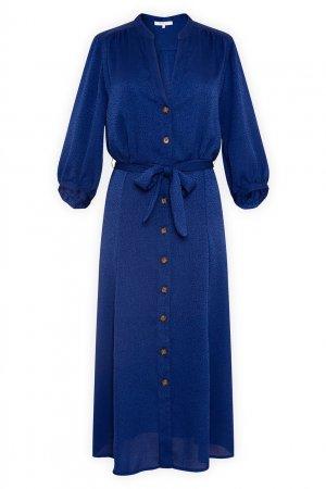Синее платье-рубашка Gerard Darel. Цвет: синий