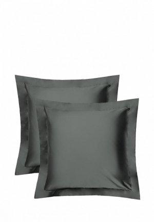 Комплект наволочек Bellehome Стефания Cosmos, 70х70. Цвет: серый