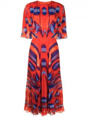 Плиссированное платье Constance Altuzarra. Цвет: красный