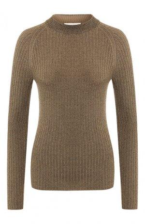 Пуловер из смеси вискозы и шерсти Sonia Rykiel. Цвет: золотой