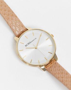 Часы с узким коричневым ремешком BCBG Generation-Коричневый цвет Max Azria