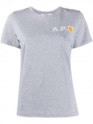 Interaction #5 Carhatt WIP T-shirt A.P.C.. Цвет: серый