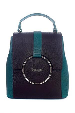 Рюкзак Dolci Capricci. Цвет: сине-зеленый, коричневый