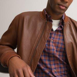 Куртка-бомбер LaRedoute. Цвет: каштановый