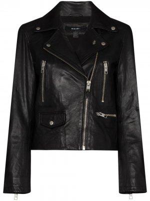 Байкерская куртка Ksubi. Цвет: черный