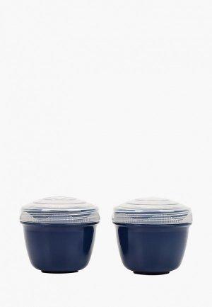 Набор контейнеров для хранения продуктов Sistema йогурта, Renew, 2шт*150мл. Цвет: синий