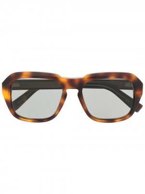 Очки Caine в оправе черепаховой расцветки Dunhill. Цвет: коричневый