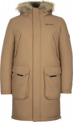 Пуховик мужской , размер 56-58 Outventure. Цвет: коричневый