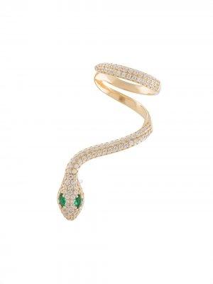 Кафф в форме змеи Apm Monaco. Цвет: золотистый