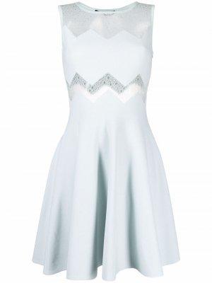 Платье мини с вырезами Antonino Valenti. Цвет: синий
