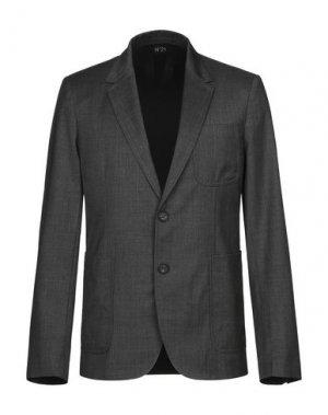 Пиджак N°21. Цвет: свинцово-серый