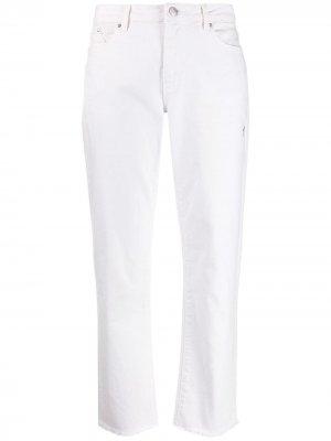 Укороченные джинсы прямого кроя Karl Lagerfeld. Цвет: белый