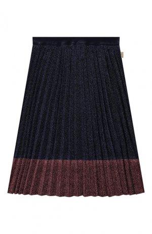 Плиссированная юбка MARC JACOBS (THE). Цвет: синий
