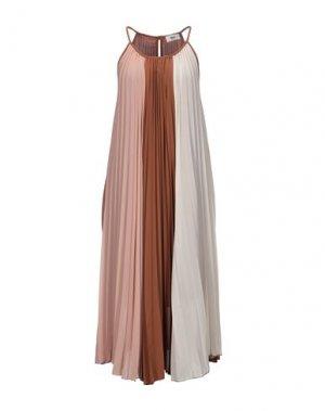 Платье длиной 3/4 B.YU. Цвет: коричневый