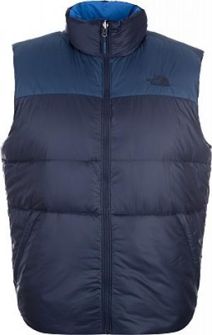 Жилет пуховый мужской Nuptse III Vest, размер 46 The North Face. Цвет: синий