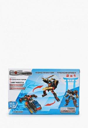 Конструктор 1Toy Blockformers Transconnector Мегасамурай 6 шт. в д/б, коробка. Цвет: разноцветный
