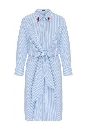 Платье Apart. Цвет: светло-голубой, белый