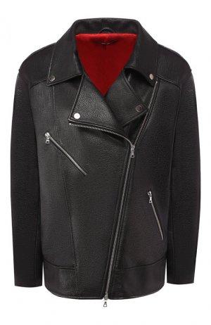 Кожаная куртка Maslov. Цвет: чёрный