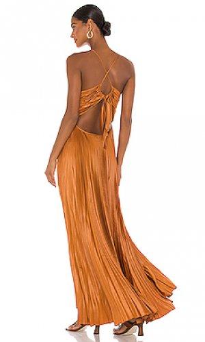 Вечернее платье aries A.L.C.. Цвет: цвет загара