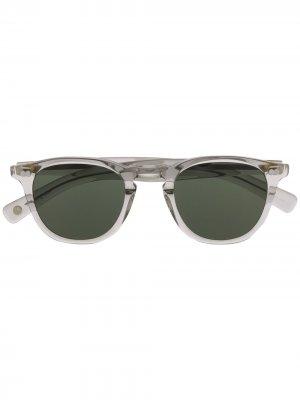 Солнцезащитные очки в прозрачной оправе Garrett Leight. Цвет: серый