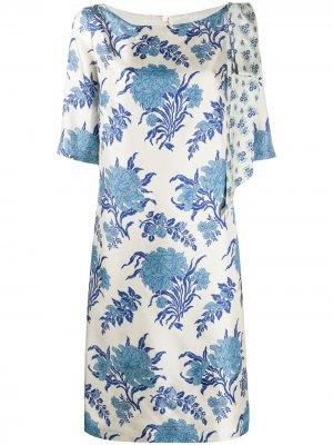 Платье с цветочным принтом Antonio Marras. Цвет: нейтральные цвета