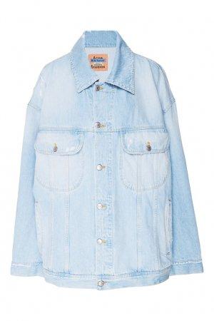 Голубая джинсовая куртка Acne Studios. Цвет: голубой