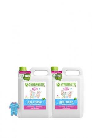 Гель для стирки детского, 5 л Synergetic. Цвет: белый, розовый