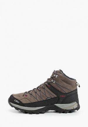 Ботинки трекинговые CMP RIGEL MID WP. Цвет: коричневый