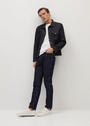 Джинсовая куртка с легким эффектом застиранности - Adrien Mango. Цвет: синий