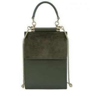 Мини-сумка Alla Pugachova AP30869-olive-21L
