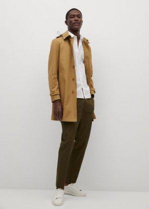 Хлопковая рубашка regular-fit с короткими рукавами - Third Mango. Цвет: белый