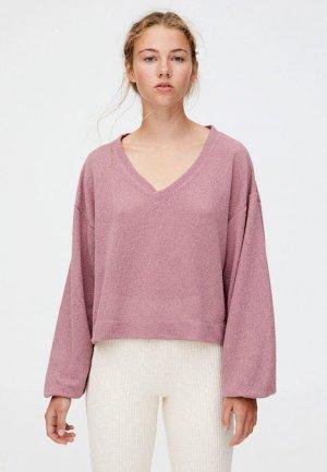 Пуловер Pull&Bear. Цвет: розовый