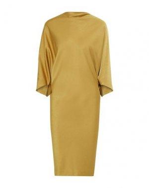 Платье длиной 3/4 CHALAYAN. Цвет: охра