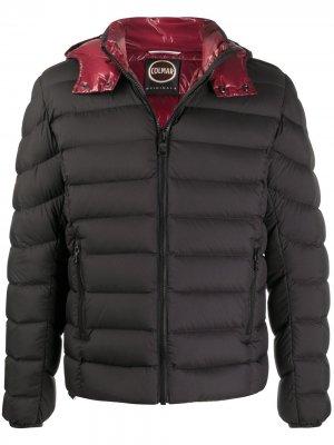 Стеганая куртка с капюшоном Colmar. Цвет: черный