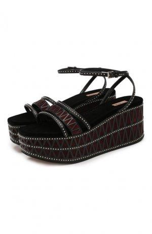 Кожаные сандалии Alaia. Цвет: бордовый