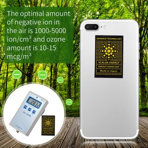 Наклейка для мобильного телефона с защитой от излучения SHEIN. Цвет: чёрный
