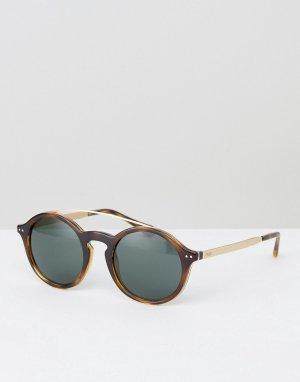 Круглые солнцезащитные очки -Коричневый Polo Ralph Lauren
