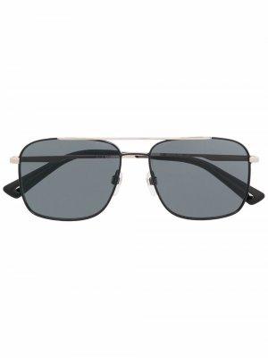 Солнцезащитные очки-авиаторы DL0295 Diesel. Цвет: черный