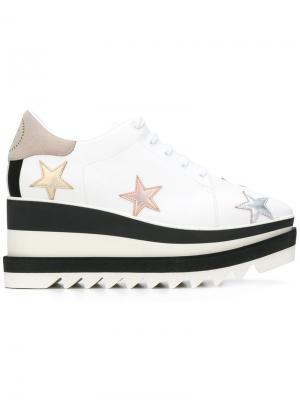 Туфли Star Elyse на платформе Stella McCartney. Цвет: белый