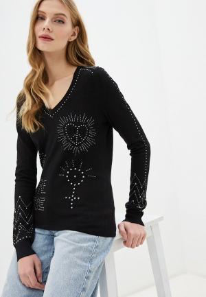 Пуловер Desigual. Цвет: черный