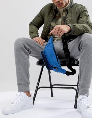 Сумка-кошелек на пояс с винтажным выбеленным эффектом 7X. Цвет: синий
