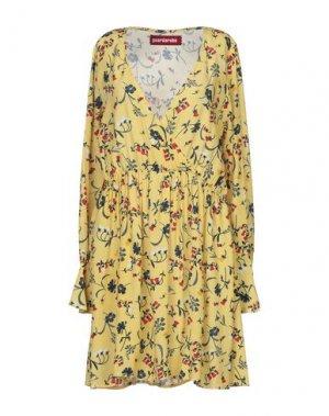 Короткое платье GUARDAROBA by ANIYE. Цвет: желтый