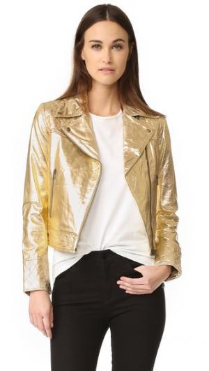 Куртка-косуха-Золотой Meteo by Yves Salomon. Цвет: коричневый