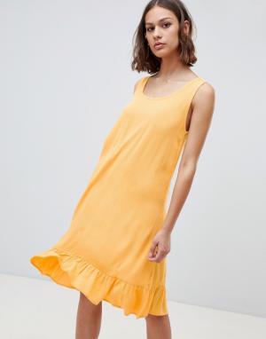 Платье-майка с заниженной талией -Желтый Ichi