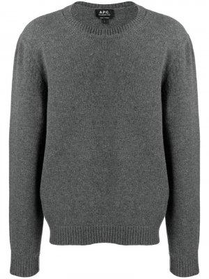 Джемпер с круглым вырезом A.P.C.. Цвет: серый