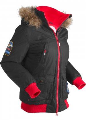 Функциональная теплая куртка с капюшоном bonprix. Цвет: черный