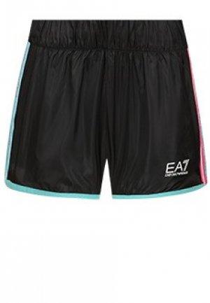 Шорты EA7. Цвет: черный